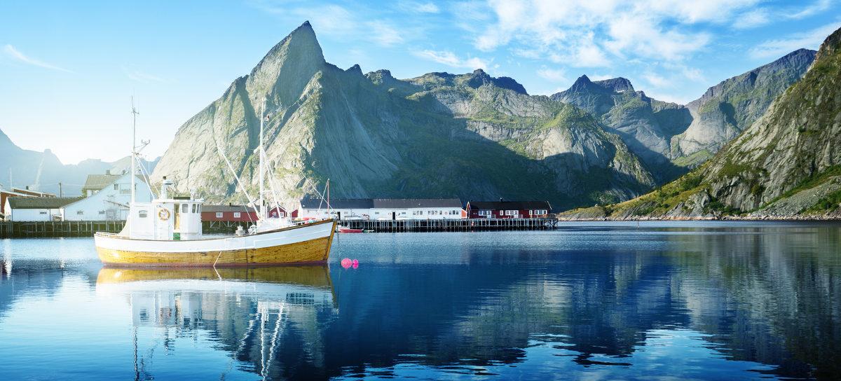 Fischerboot Norwegen Fischöl