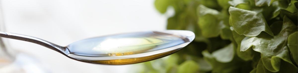Flüssiges Fsichöl für Salate und andere Speisen