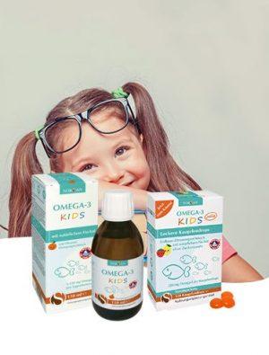 Omega-3 für Kinder ist gut für die Entwicklung des Gehirns, die Konzentration und die Sehleistung