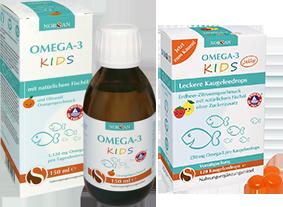 Omega-3 für Kinder von NORSAN_natürliches Fischöl oder leckere Kaugeleedrops mit Omega-3