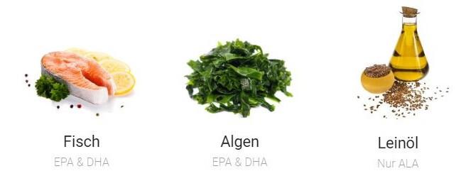 Omega-3 Lebensmittel_fettreicher Fisch, Algen und Leinöl enthalten besonders viel Omega-3
